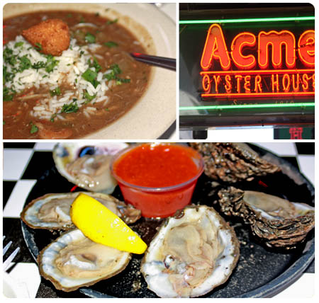 New Orleans Acme Oyster House and Seafood Gumbo