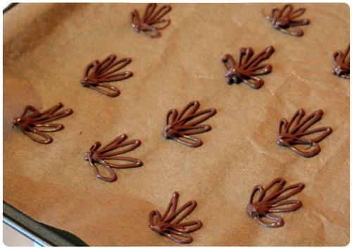 chocolate drizzle fleur de lis