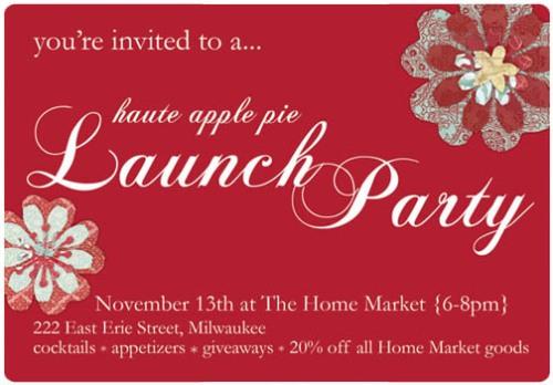 HAP Launch Party cocktail invite