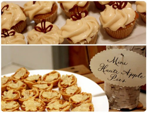 Haute Apple Pies, Pumpkin Cupcakes