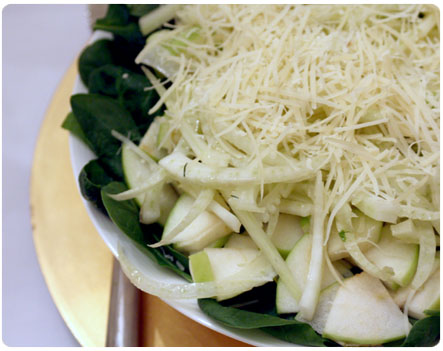 Fennel, Apple & Spinach Salad