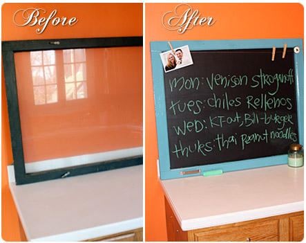 DIY window chalkboard