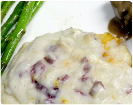 Garlic Cheddar Mashed Potatoes