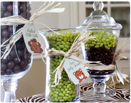 Green and Brown Candy Buffet