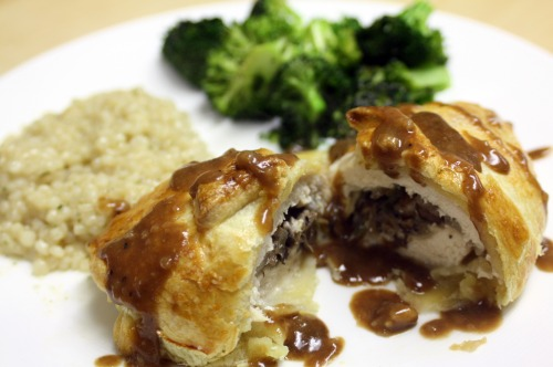 Stuffed Chicken with Balsamic Reduction
