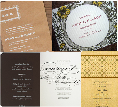 Chocolate brown wedding invitations, wood wedding invitations