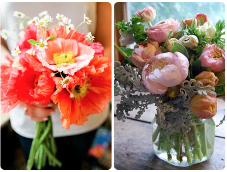 Pink & Coral wedding flowers