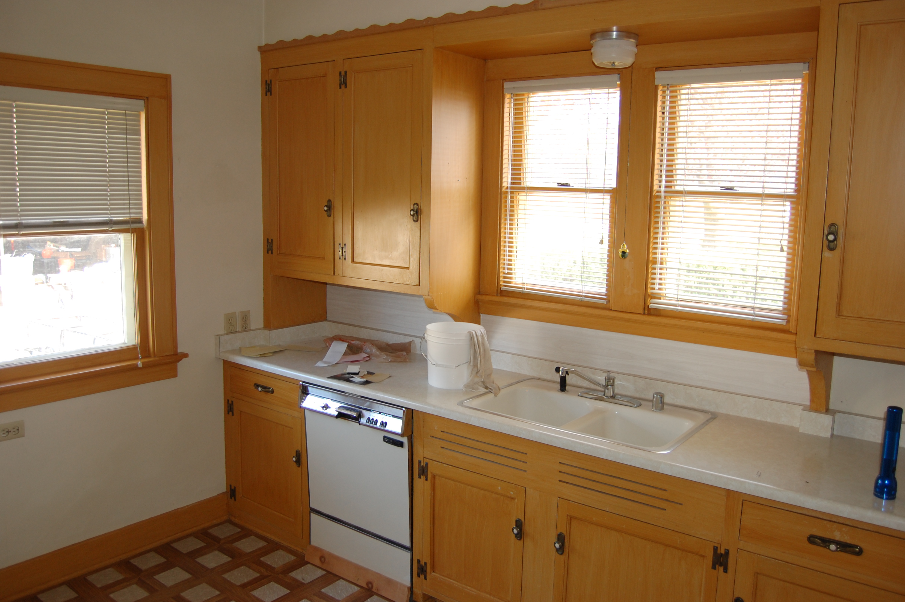 ... cabinets before we painted them: And after: & How To: Painting Kitchen Cabinets |