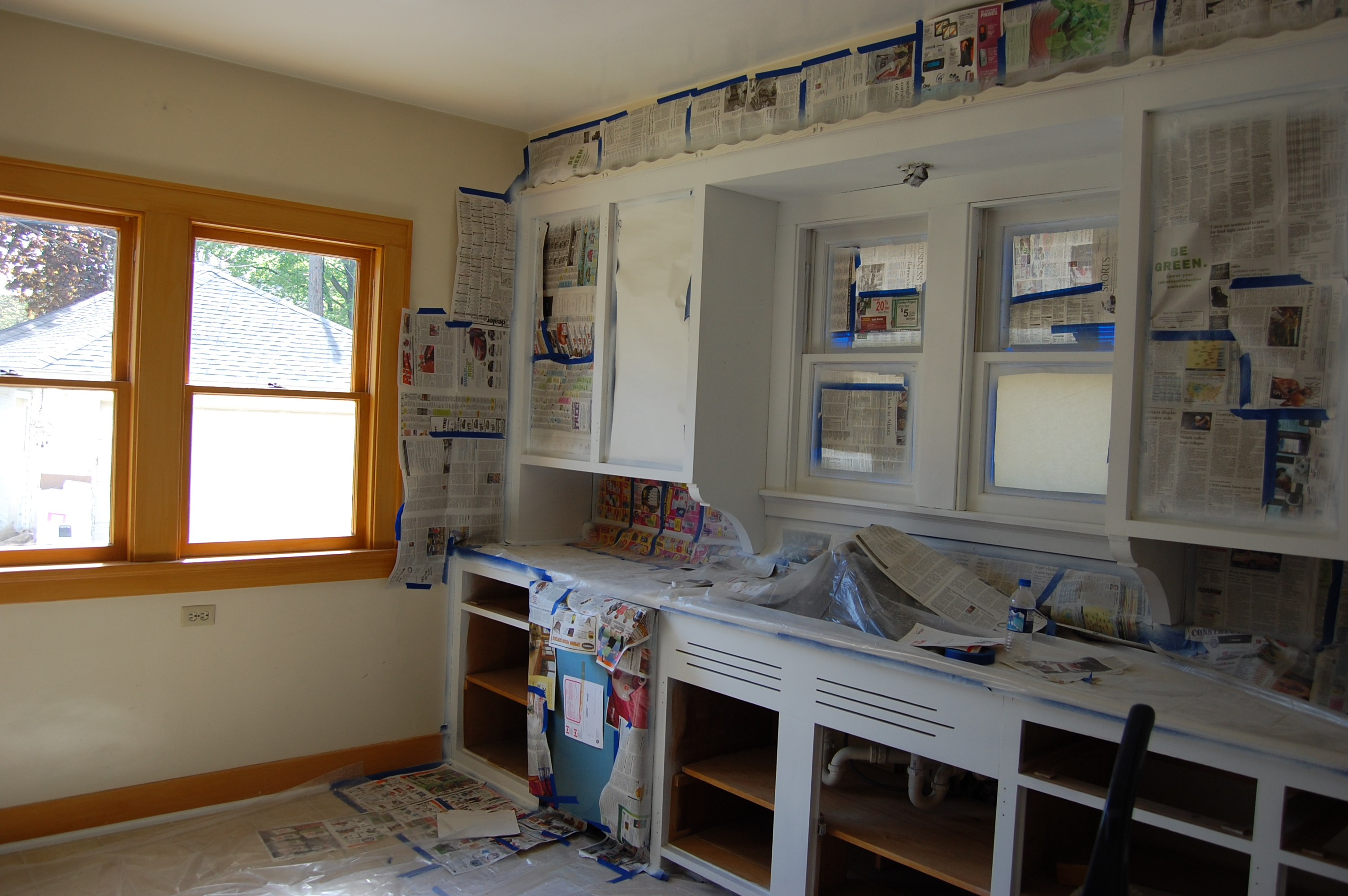 setting up the paint sprayer - Do It Yourself Painting Kitchen Cabinets