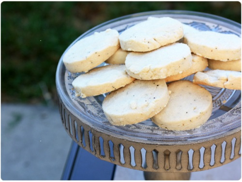 black pepper shortbread