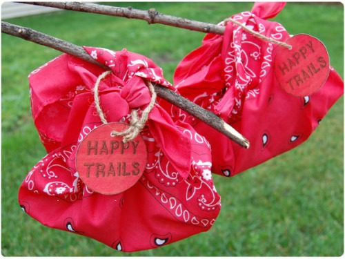 happy trails bandana birthday favors