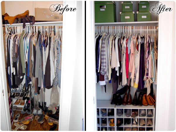 Reorganizing. Organization  Bedroom Closet