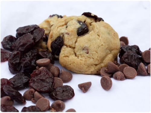 chocolate chips, cherries