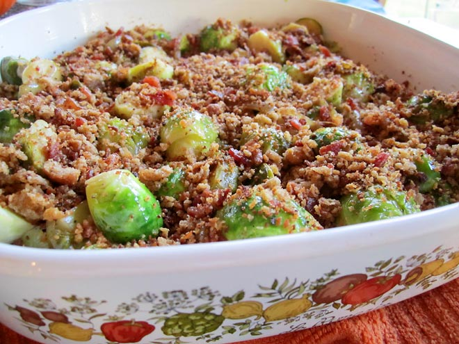 Braised Brussels Sprouts with Bacon |