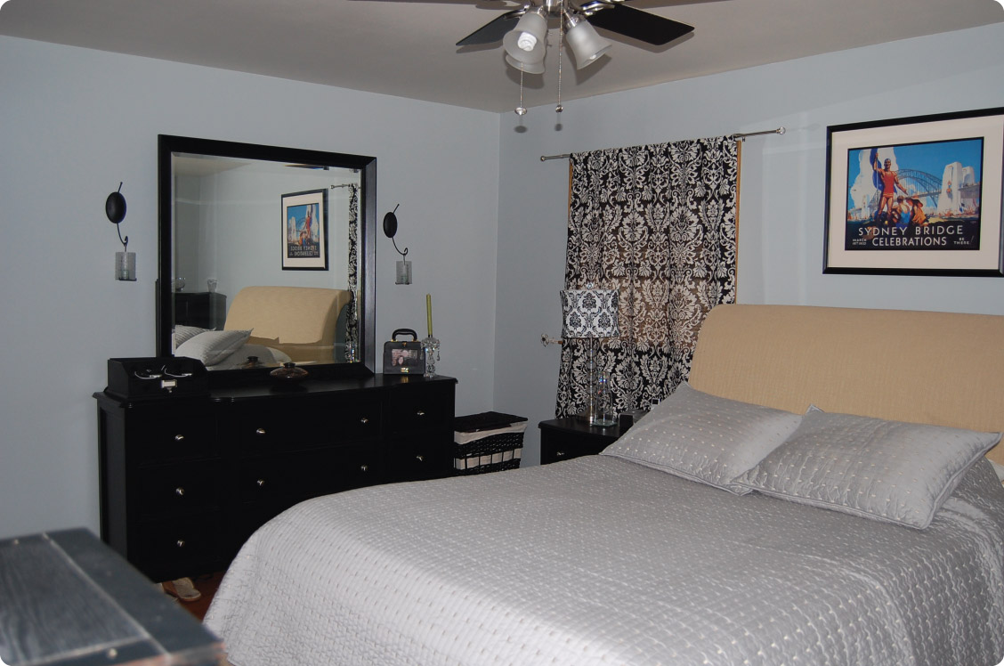 What a difference some paint makes master bedroom before after Master bedroom tv setup
