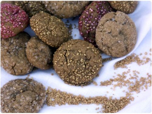 soft molasses gingerbread cookies