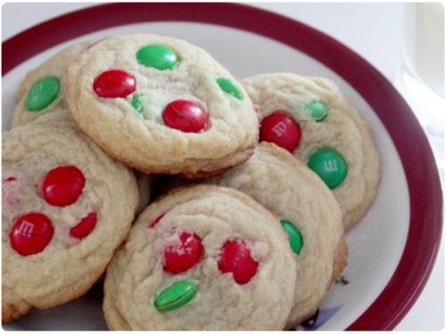 almond M&M cookies