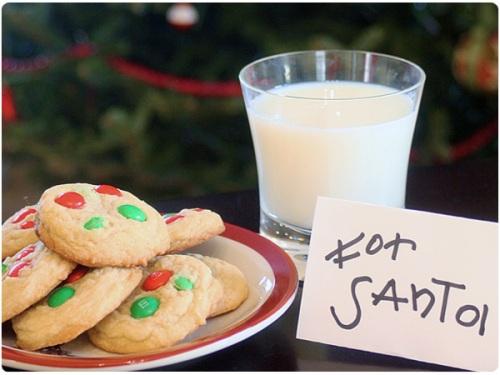 M&M cookies for santa