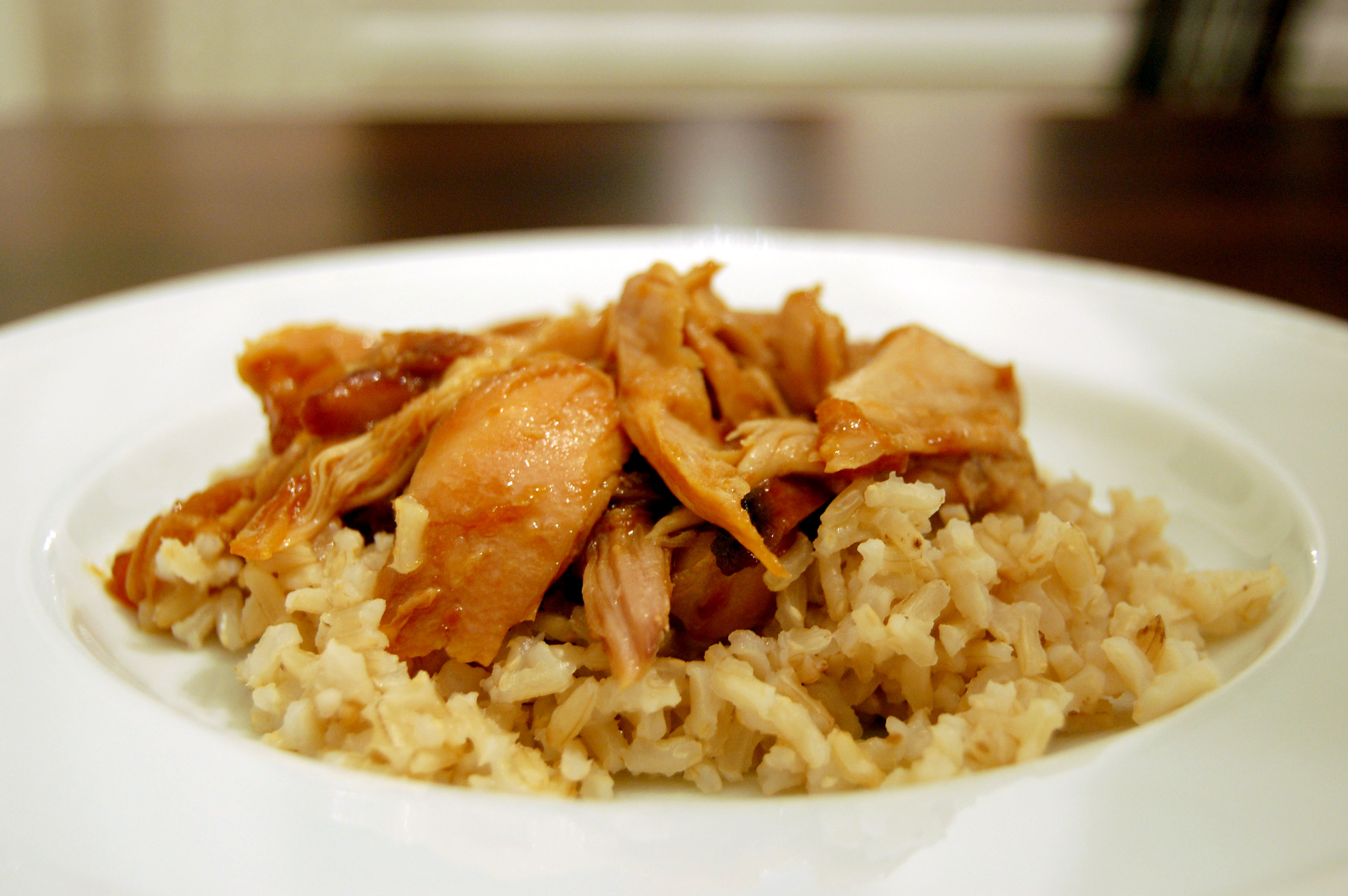Apricot Chicken in a slow cooker |