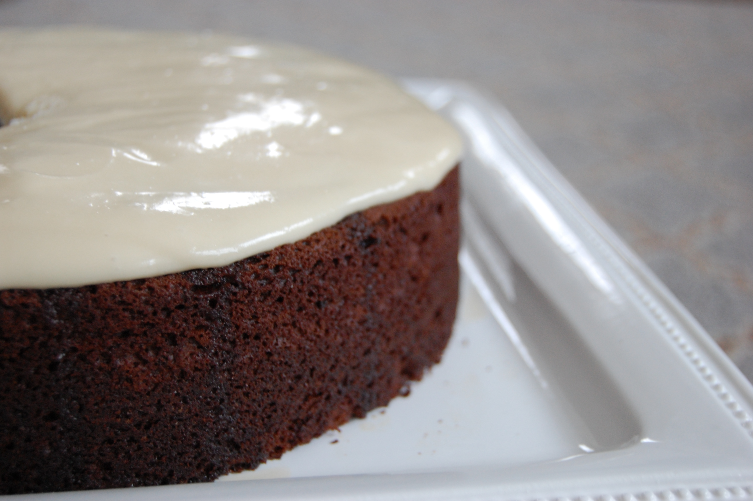 Chocolate Guinness Cake with Bailey's Cream Cheese Frosting |