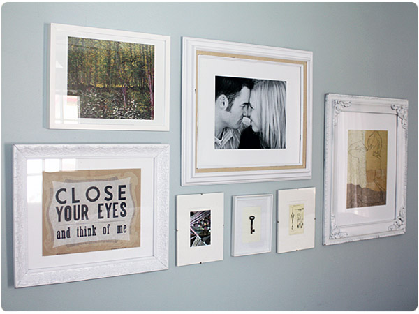 Creating an eclectic gallery wall for Bedroom gallery wall