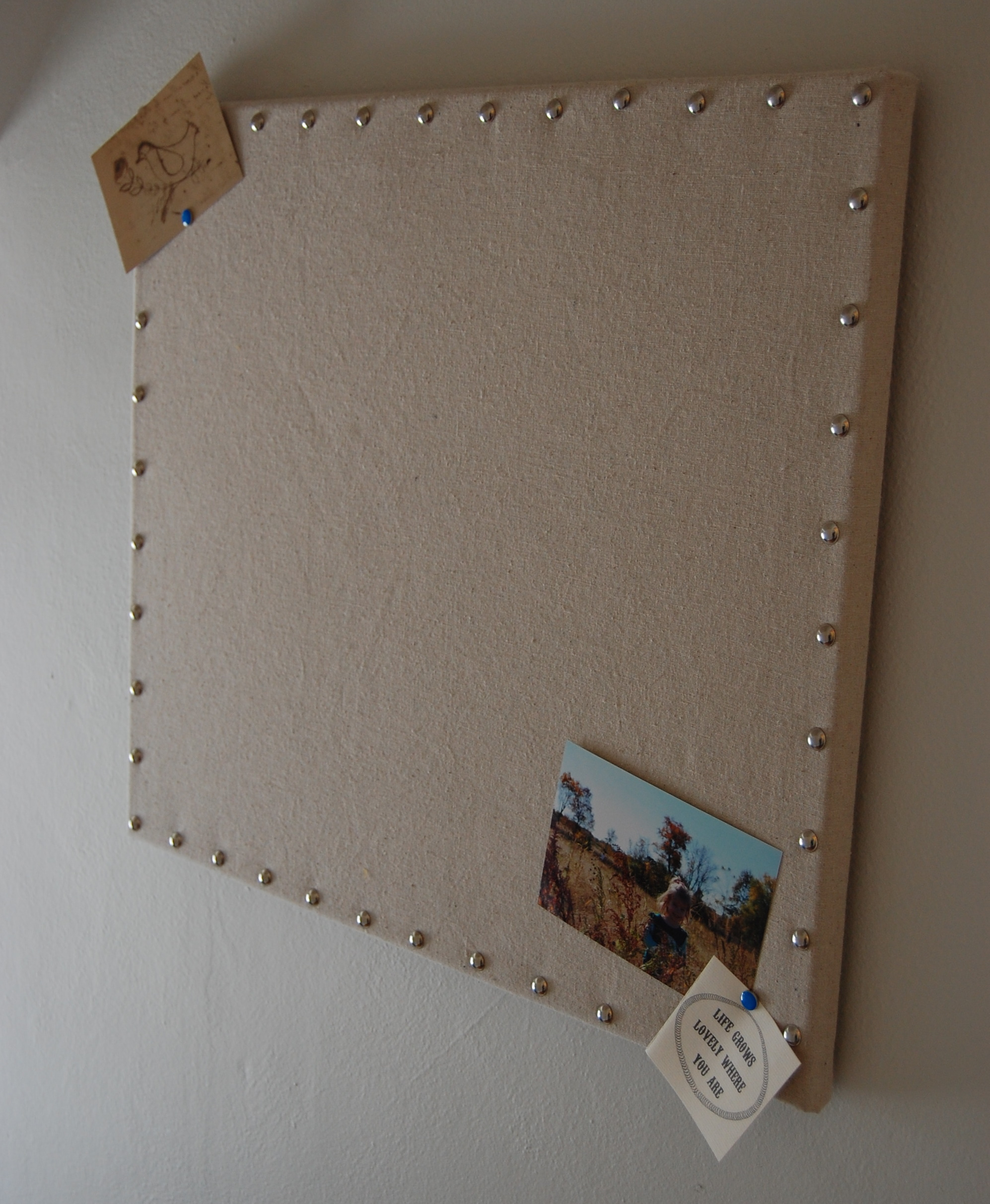 Retail replicate burlap message board for Diy cork board