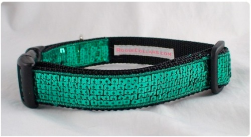 sequined dog collar by Rogue Collars
