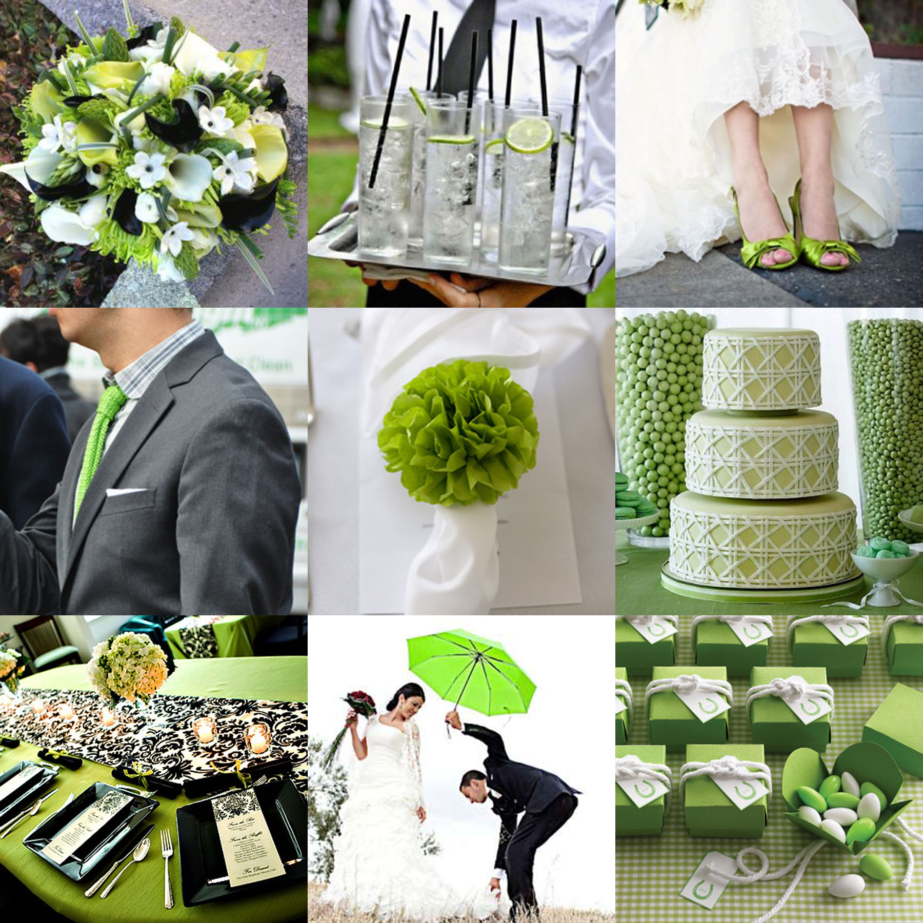Wedding Theme Ideas: Green And Black Wedding Invitations