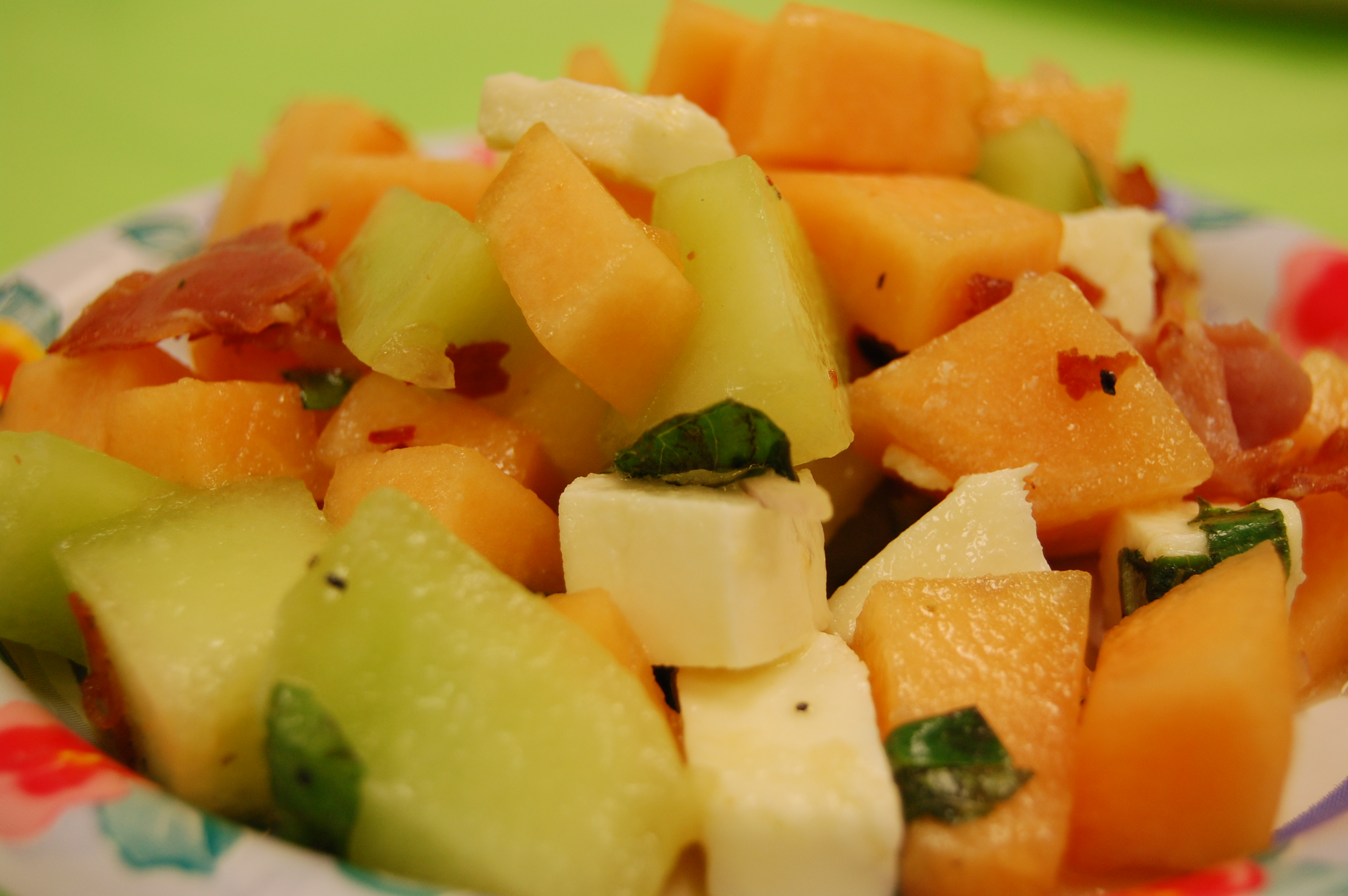 Melon and Mozzarella Salad