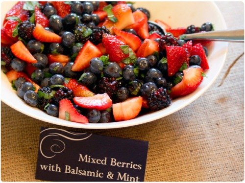 mixed berries with balsamic