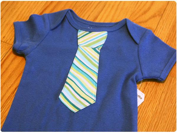 DIY Necktie Onesie