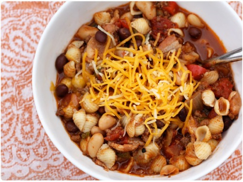 two meat, two bean chili