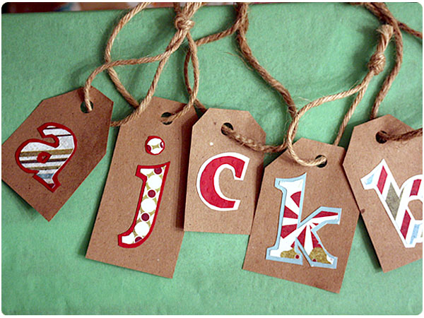 decorative papers kraft paper or cardstock twine glue stick - Decorative Christmas Gift Tags