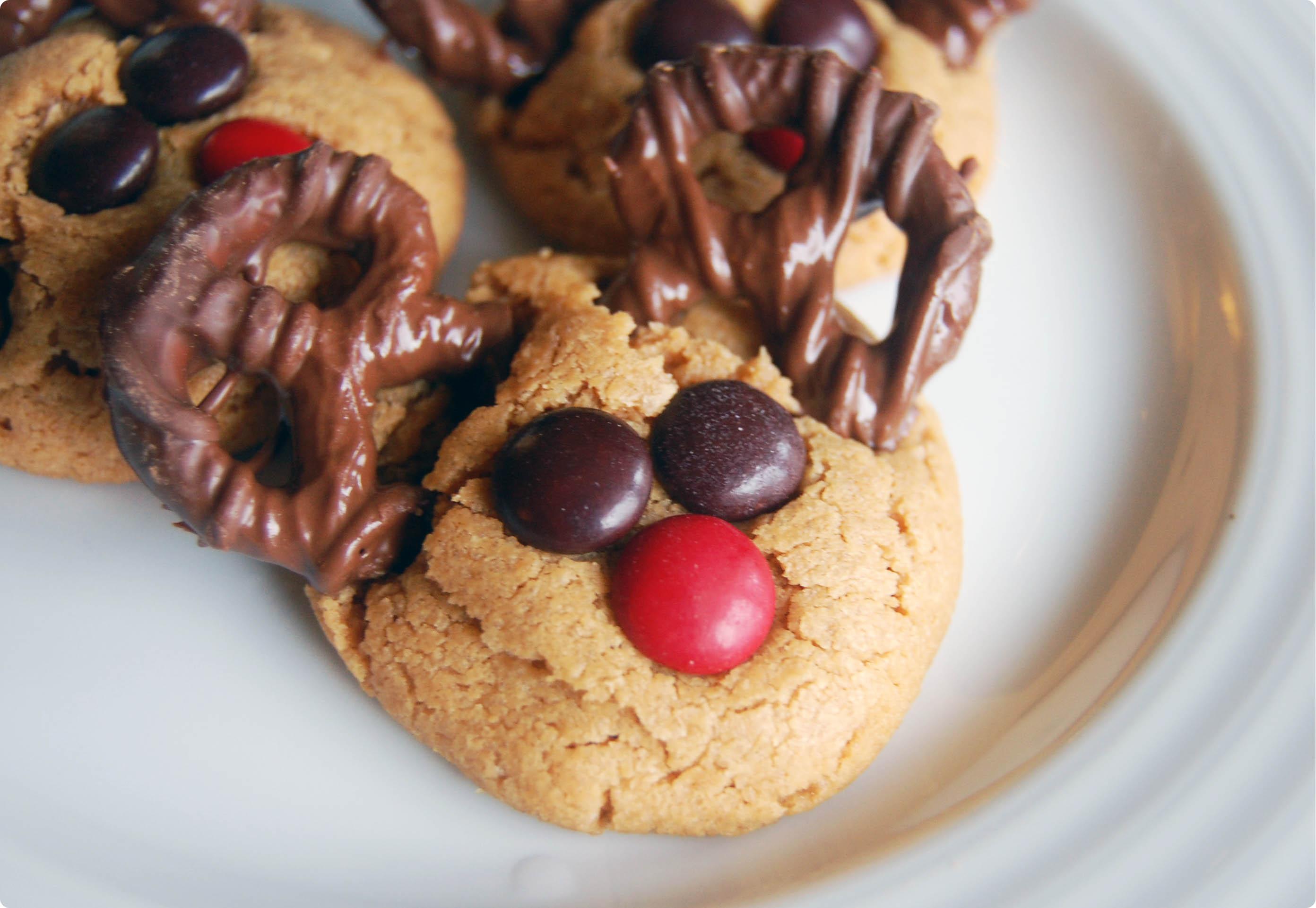 Cookie Week Reindeer Peanut Butter Cookies
