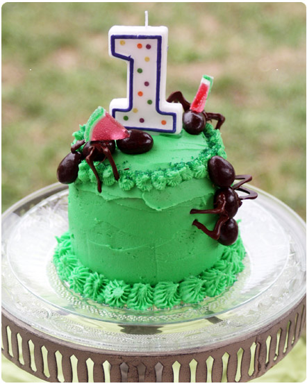 bug birthday cake