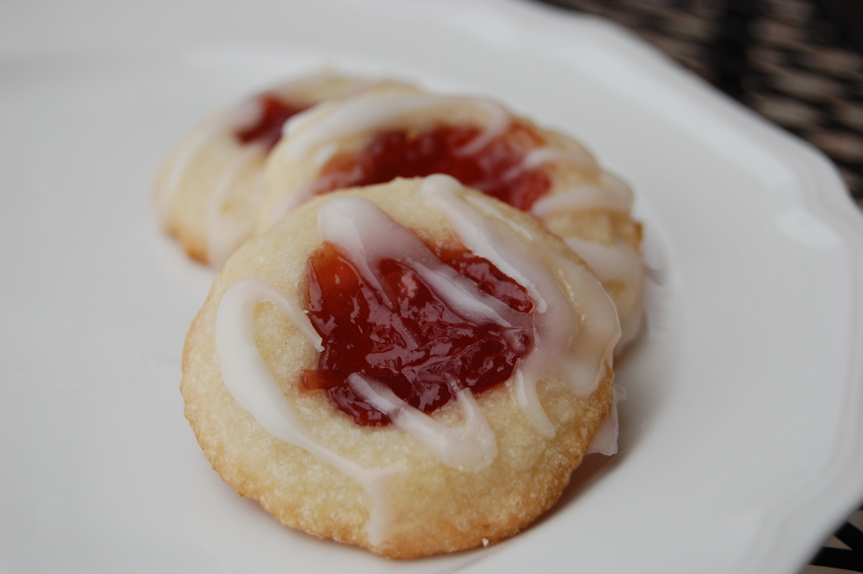 Raspberry And Almond Shortbread Thumbprints Recipes — Dishmaps