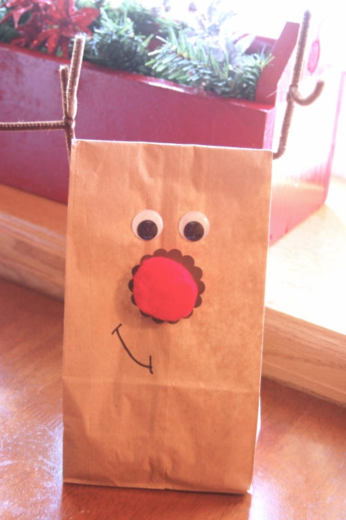 Rudolph Treat Bags via Haute Apple Pie