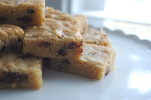 cookie bars up close