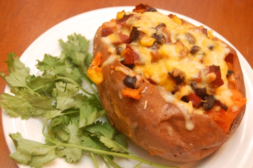 Twice-baked Southwestern Sweet Potato
