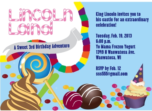 Candy Land Invitation