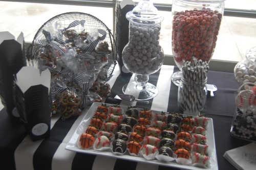 Black White And Green Dessert Table