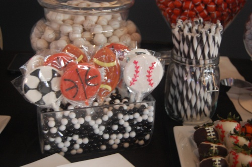 sports themed candy bar
