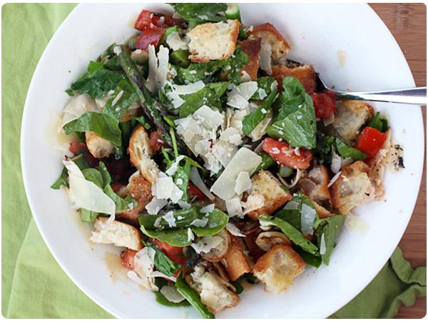 asparagus panzanella salad