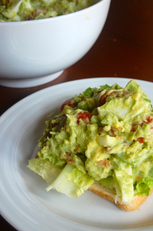 Avocado BLT Egg Salad  via Haute Apple Pie