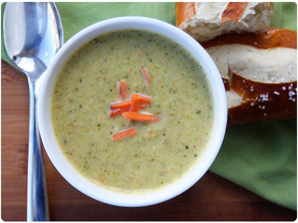 broccoli kohlrabi amp cheddar soup