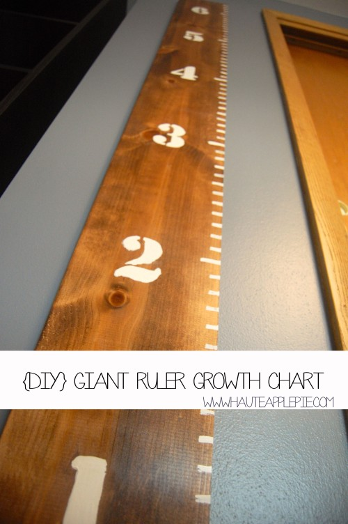 {DIY} Giant Ruler Growth Chart