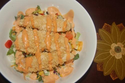 Crispy Tortilla Chicken Chopped Salad