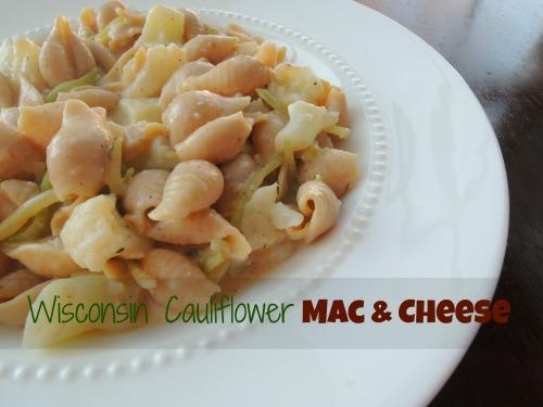 Wisconsin Cauliflower Mac n Cheese