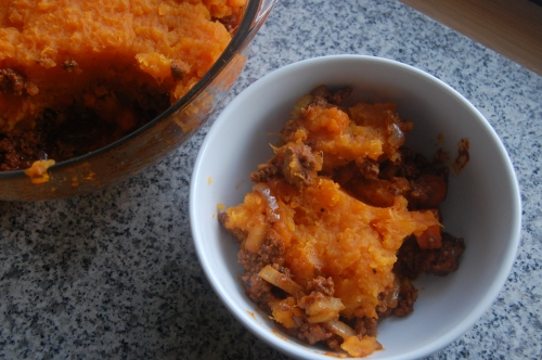 Sweet Potato Shepherd's Pie dish