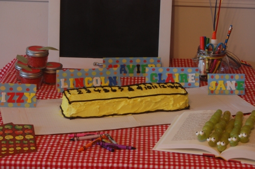 back to school party table
